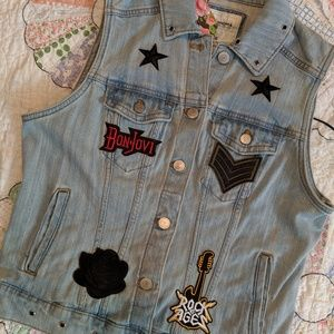 Rock Star Vintage Denim Vest